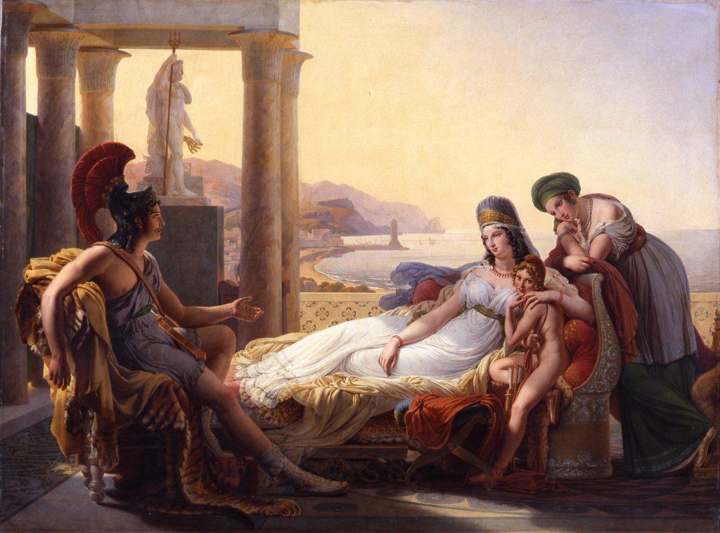 Pierre-Narcisse Guérin (1774–1833), Énée racontant à Didon les malheurs de la ville de Troie, 1815, huile sur toile, musée des Beaux-Arts de Bordeaux.