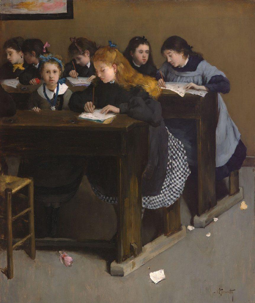 Norbert Goeneutte (1854-1894), La leçon, date inconnue, collection privée.