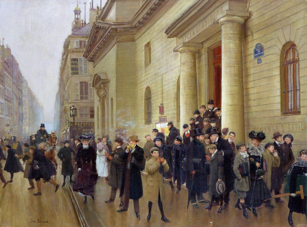 Jean Béraud (1849-1935), La sortie du lycée Condorcet, 1903, huile sur toile, musée Carnavalet.