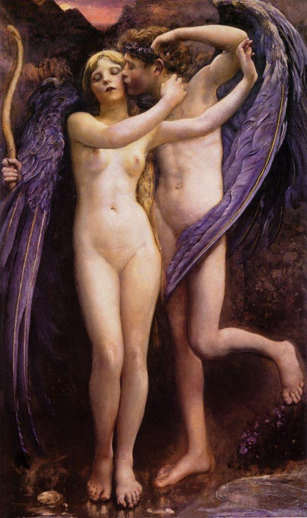 Annie Swynnerton (1844–1933), Cupidon et Psyché, 1890, huile sur toile,Gallery Oldham.