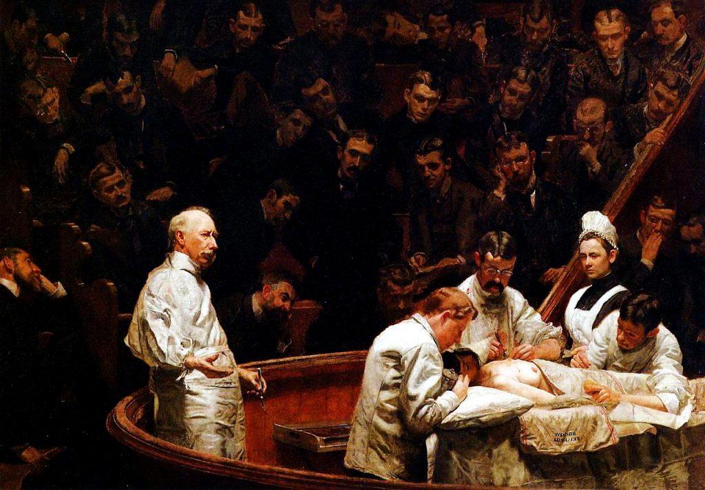 Thomas Eakins (1844-1916), La clinique du docteur Agnew, 1889, huile sur toile,John Morgan Building at the University of Pennsylvania, Philadelphia, Pennsylvania.
