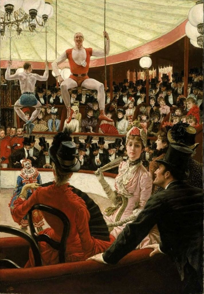 James Tissot (1836-1902), L'amateur de cirque, 1885, huile sur toile, Museum of Fine Arts, Boston.