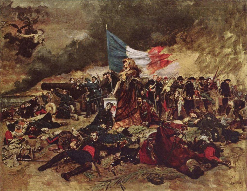 Jean-Louis-Ernest Meissonier (1815–1891), Le siège de Paris, 1884, huile sur toile, musée d'Orsay.