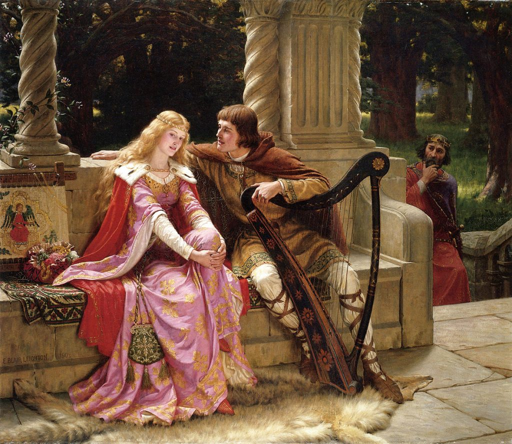 Edmund Blair Leighton (1852-1922), The End of The Song, 1902, huile sur toile, collection privée.