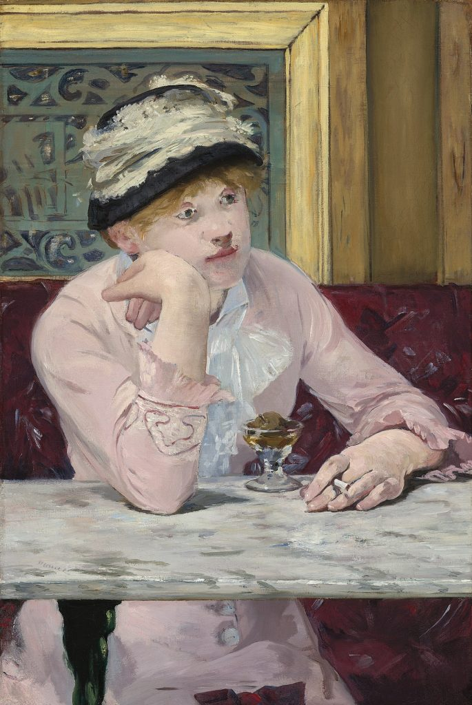 Édouard Manet (1832–1883), La Prune, 1877, huile sur toile, National Gallery of Art de Washington.