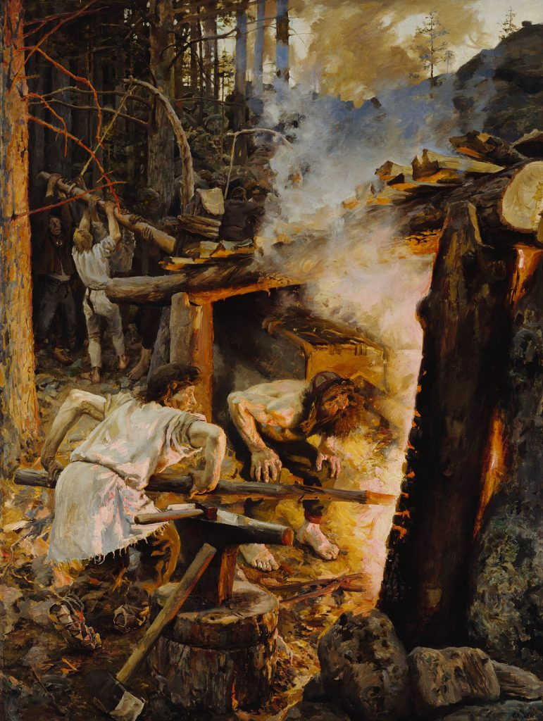 Akseli Gallen-Kallela (1865-1931), La forge du Sampo, 1893, huile sur toile, Ateneum.