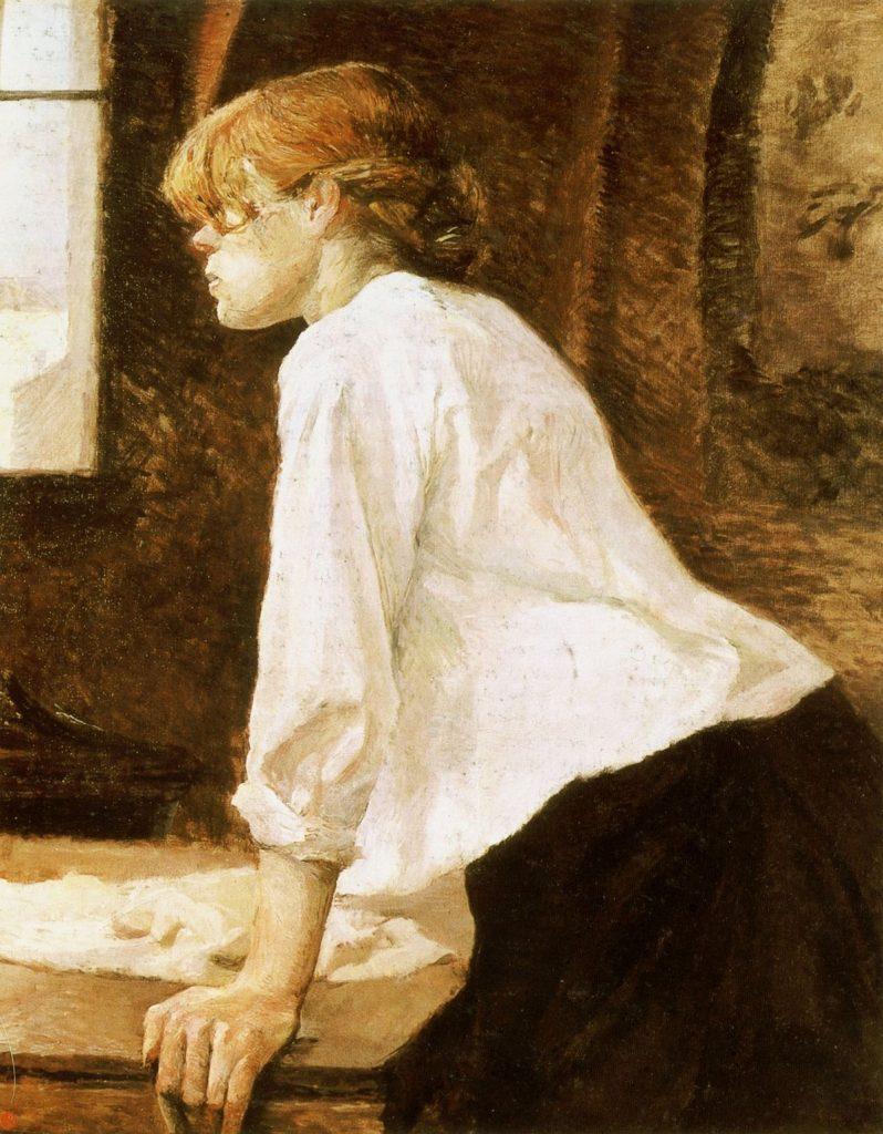 Henri de Toulouse-Lautrec (1864–1901),La Blanchisseuse, 1889, huile sur toile, collection privée.