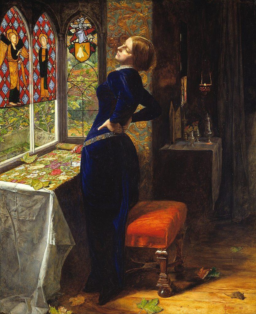John Everett Millais (1829-1896), Mariana, 1851, huile sur bois, Tate Britain.