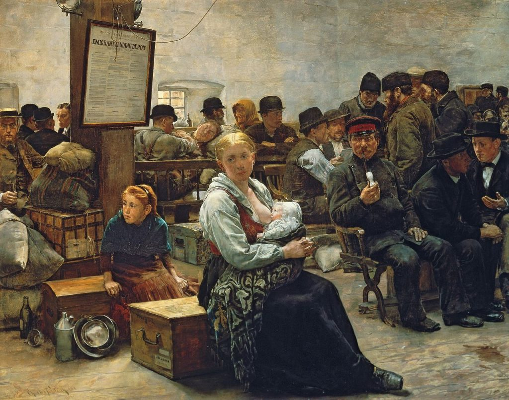 Charles Frederic Ulrich (1858–1908), In the land of promises, 1884, huile sur panneau, National Gallery of Art.