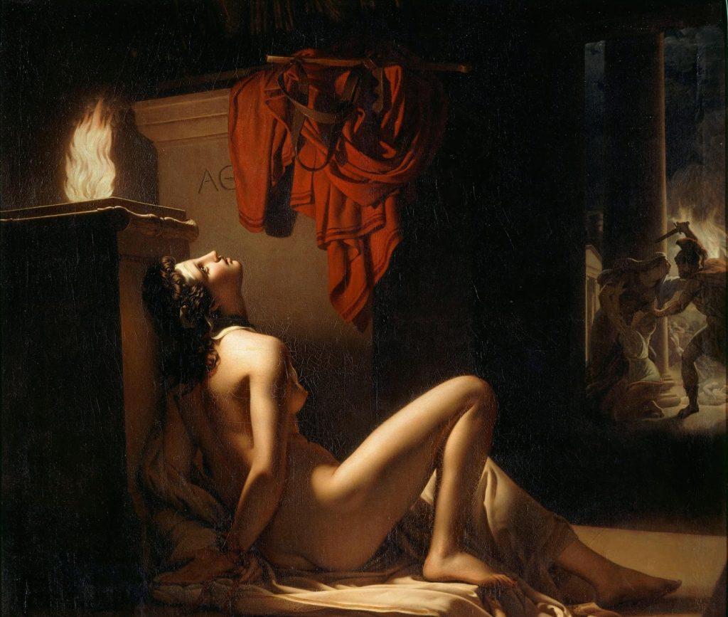 Jérôme-Martin Langlois (1779-1838), Cassandre implorant la vengeance de Minerve contre Ajax, 1810, huile sur toile, Musée des Beaux-Arts de Chambéry.
