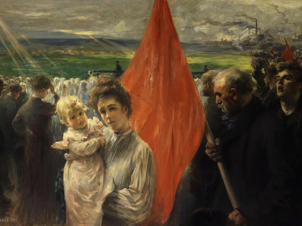 Paul-Louis Delance (1848-1924), La grève à Saint-Ouen, 1908, huile sur toile, musée d'Orsay.