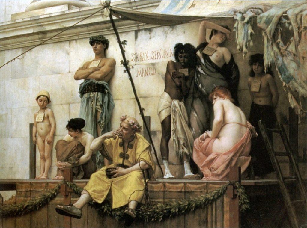 Gustave Boulanger (1824–1888), Le marché aux esclaves,1886, huile sur toile, collection privée.