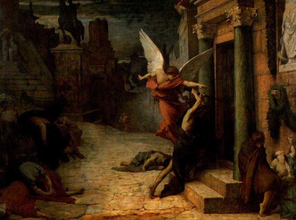 Jules Elie Delaunay (1828-1891), Peste à Rome, 1869, huile sur toile, musée d'Orsay.
