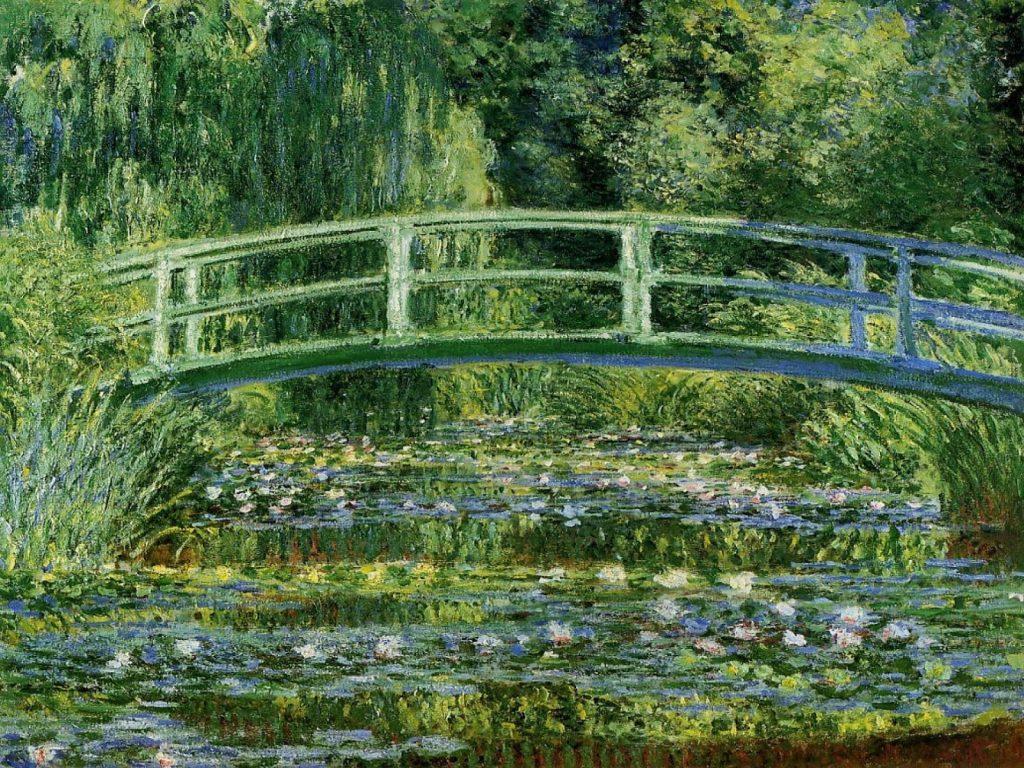 Claude Monet (1840-1926), Le bassin aux nymphéas, harmonie verte, 1899, huile sur toile, musée d'Orsay.