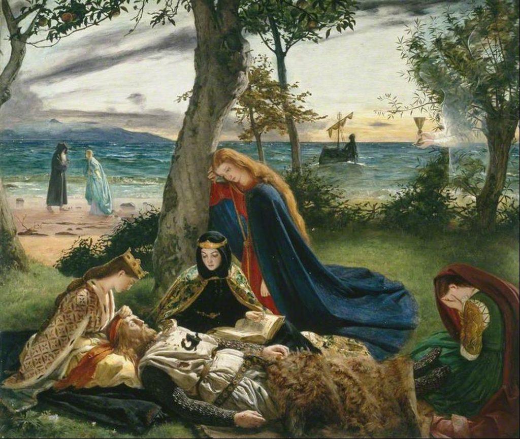 James Archer (1823 – 1904), La mort d'Arthur, huile sur toile.