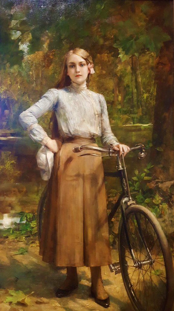 Léon Comerre (1850-1916), Bicyclette au Vésinet, 1903, huile sur toile, Petit Palais.