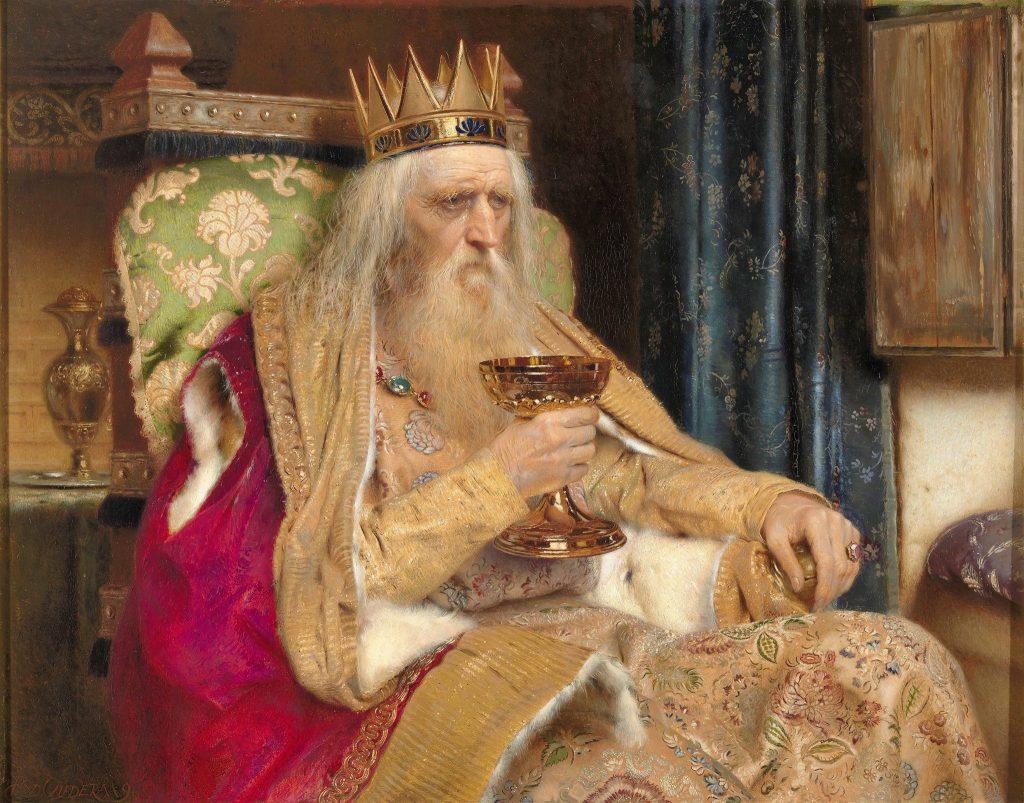 Pierre Jean Van der Ouderaa (1841-1915), Le roi de Thulé, 1896, huile sur toile.
