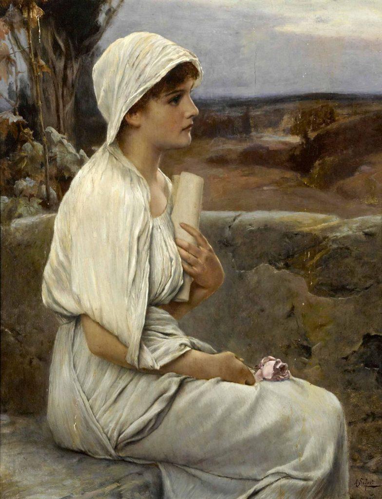 Alfred Seifert (1850–1901) , Hypatie, 1901, huile sur panneau.