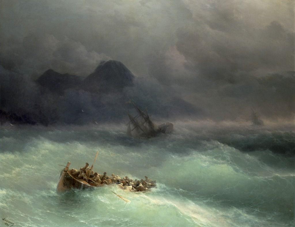 Ivan Konstantinovich Aivazovsky (1817-1900), Le naufrage, 1873, huile sur toile, collection privée.