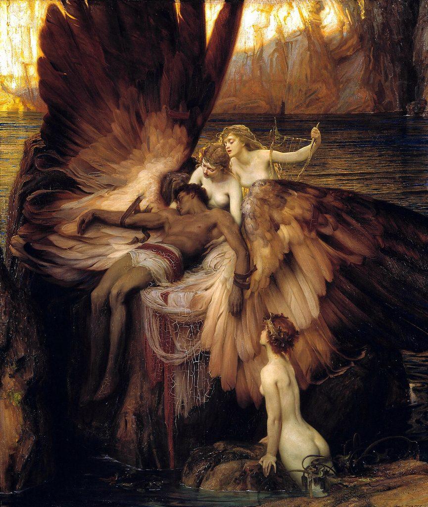 Herbert Draper (1863-1920), Pleurs pour Icare, 1898, huile sur toile, Tate Britain.