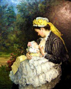 Henri Michel-Lévy (1844-1914), La nourrice, huile sur toile,musée des Beaux-Arts d'Orléans.