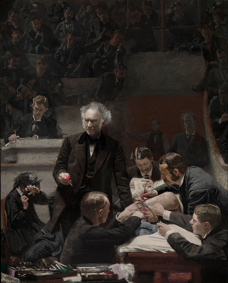 Thomas Eakins (1844-1916), La clinique du docteur Gross,1875, huile sur toile,Philadelphia Museum of Art.