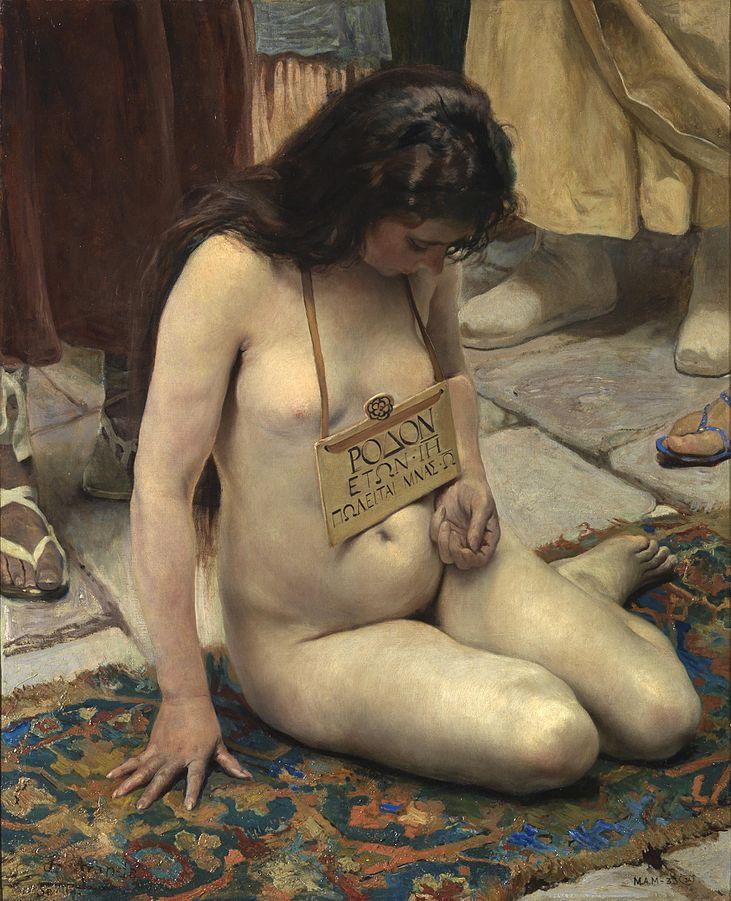 José Jiménez Aranda (1837-1903), Une esclave à vendre,1897, huile sur toile, collection privée.