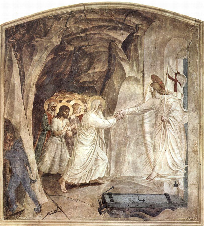 Fra Angelico (1395-1455), Le Christ dans les limbes, 1441-1442, fresque, musée national San Marco.