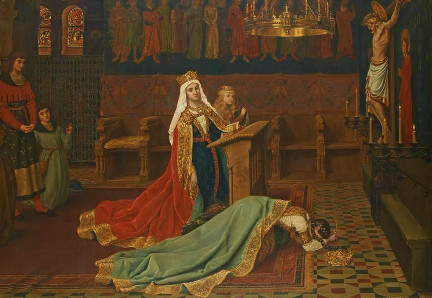 Jean-Baptiste Anthony (1854–1930),Sainte Elisabeth de Hongrie, 1874, huile sur toile, collection privée.