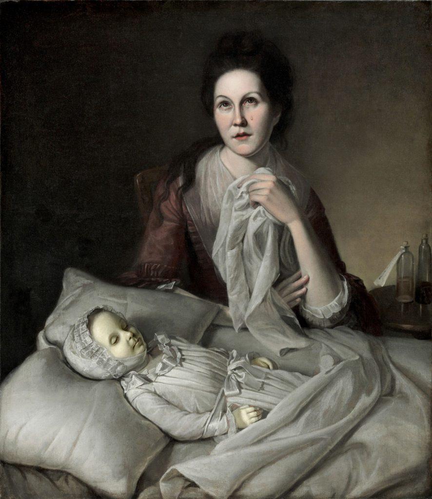 Charles Willson Peale (1741–1827), Rachel weeping (Rachel pleurant), 1872, huile sur toile, Philadelphia Museum of Art.