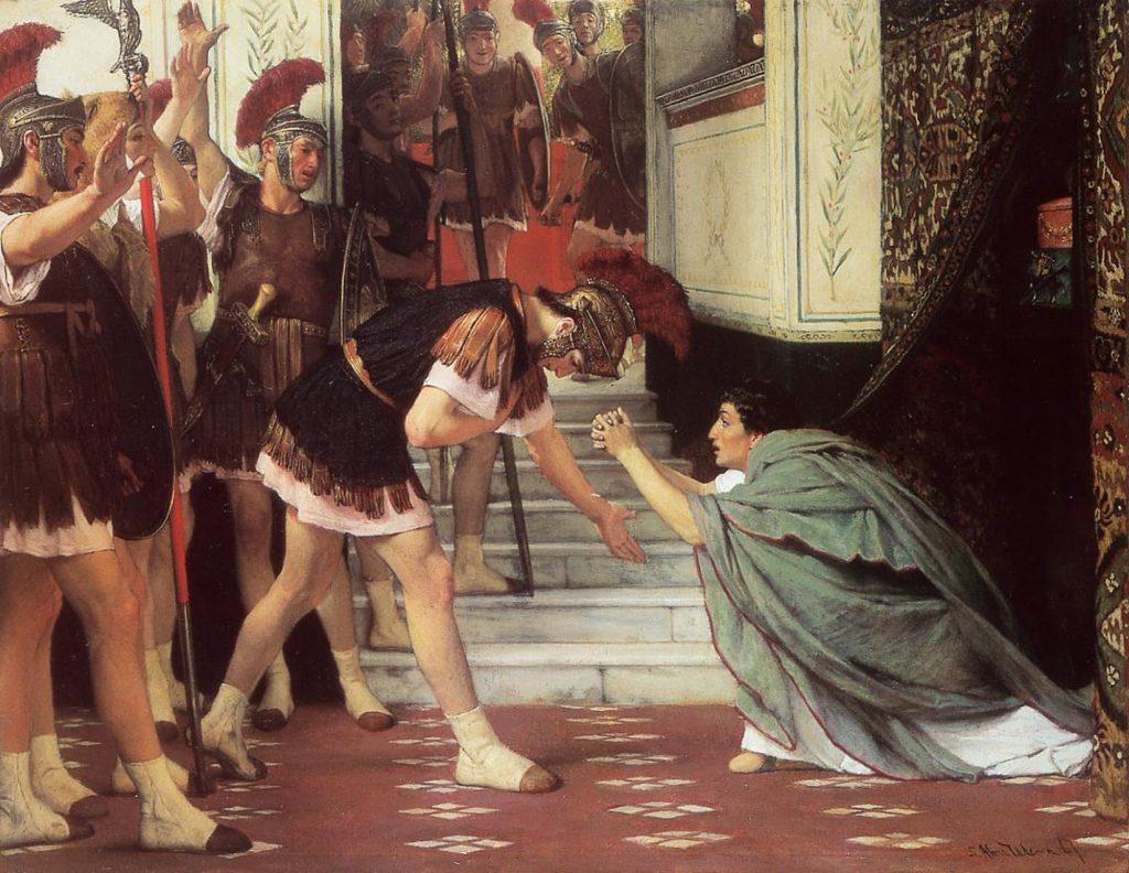 Lawrence Alma-Tadema (1836-1912), Claude proclamé empereur, 1872, huile sur toile, Baltimore, Walters Art Gallery.