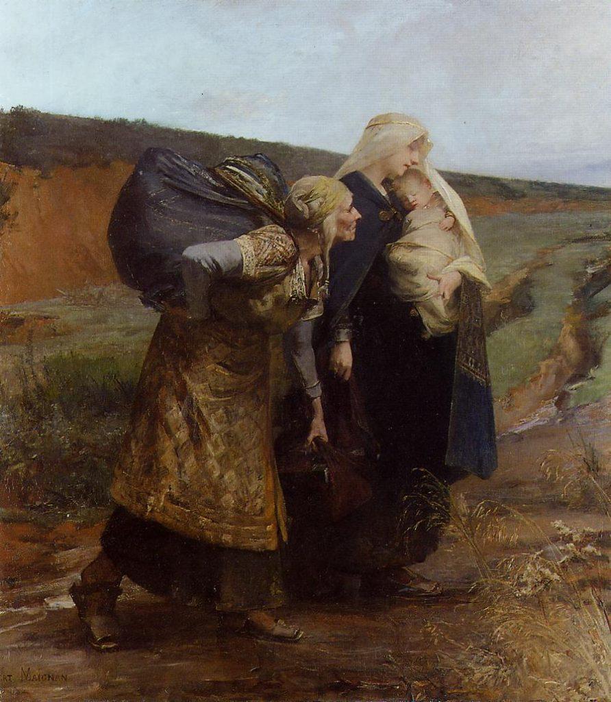 Albert Maignan (1845–1908), Audovère répudiée, date inconnue, huile sur toile, collection privée.