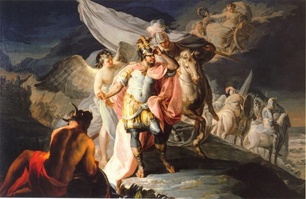 Francisco de Goya (1746-1828), Hannibal vainqueur contemple pour la première fois l'Italie depuis les Alpes, 1770, huile sur toile, Quinta de Selgas.