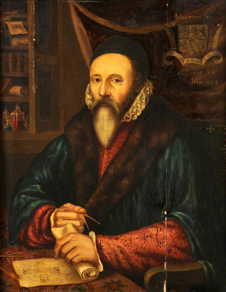 Artiste anglais anonyme, John Dee, vers 1594. Wellcome Library.