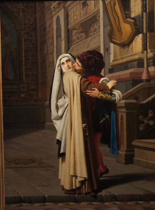 Gabriele Castagnola (1828–1883), Filippo Lippi et Lucrezia Buti, 1871, huile sur toile.