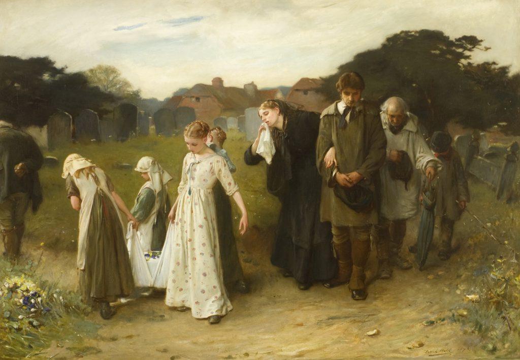 Frank Holl (1845–1888), Her first born (Son premier né), 1877, huile sur panneau, Museums Sheffield.