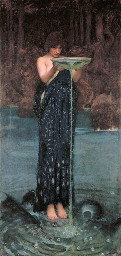 John William Waterhouse (1849–1917) , Circe Invidiosa (Circé jalouse), 1892, huile sur toile, Art Gallery of South Australia.