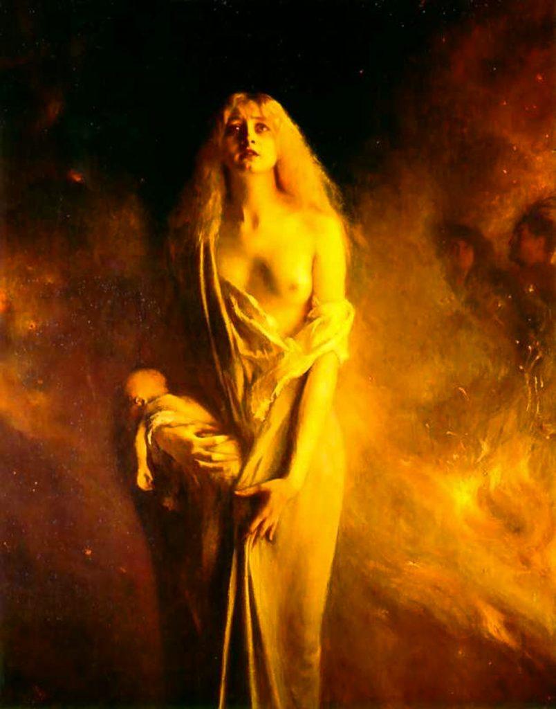 Pascal Dagnan-Bouveret (1852–1929), Marguerite au Sabbat, 1911, huile sur toile, Musée Municipal de Cognac.