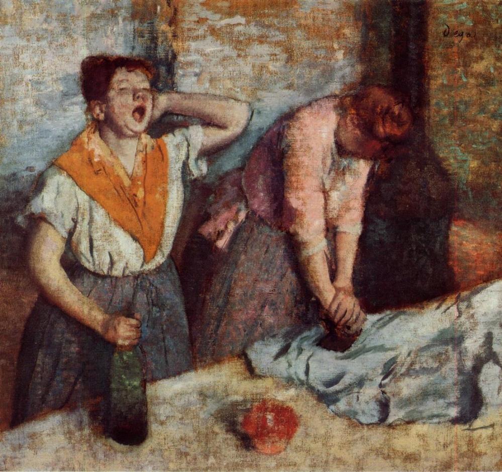 Edgar Degas (1834-1917), Repasseuses, 1884-1886, huile sur toile, musée d'Orsay.