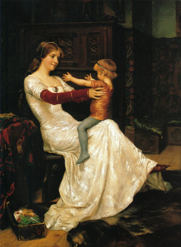 Albert Edelfelt (1854–1905), La reine Blanche de Suède et Norvège avec le petit prince Haakon,1877, huile sur toile, Ateneum.