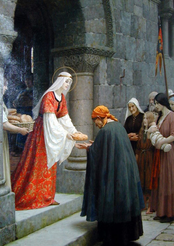 Edmund Blair Leighton (1852-1922), The Charity of St. Elizabeth of Hungary, date inconnue, huile sur toile.