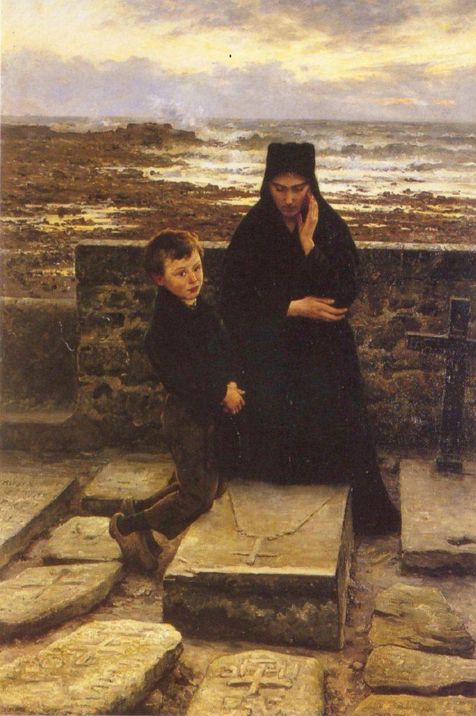 Émile Renouf (1845–1894), La veuve de l'île de Sein, 1880, huile sur toile, musée des beaux-arts de Quimper.
