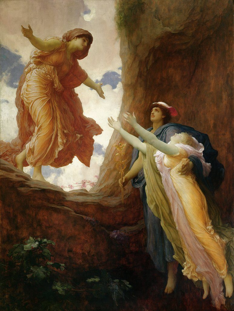 Frederic Leighton (1830-96), Le retour de Perséphone, vers 1891, huile sur toile, Leeds Museums and Galleries.