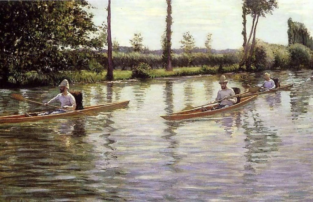Gustave Caillebotte (1848–1894), Les Périssoires, 1877, huile sur toile,Milwaukee Art Museum.