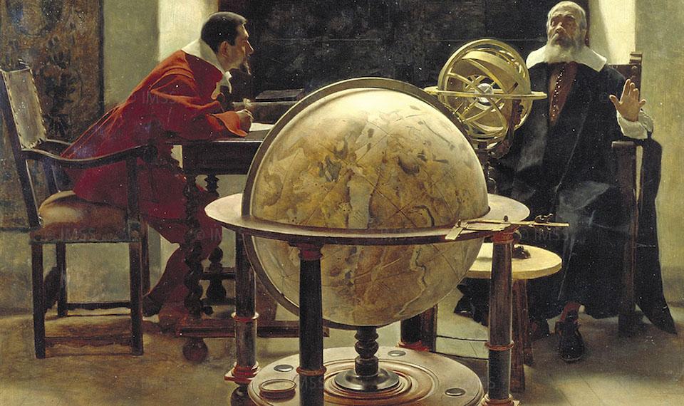 Tito Lessi (1858-1917), Galileo et Viviani, 1892, huile sur toile, musée Galilée.