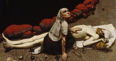 Akseli Gallen-Kallela (1865-1931), La mère de Lemminkäinen,1897, huile sur toile, Ateneum.