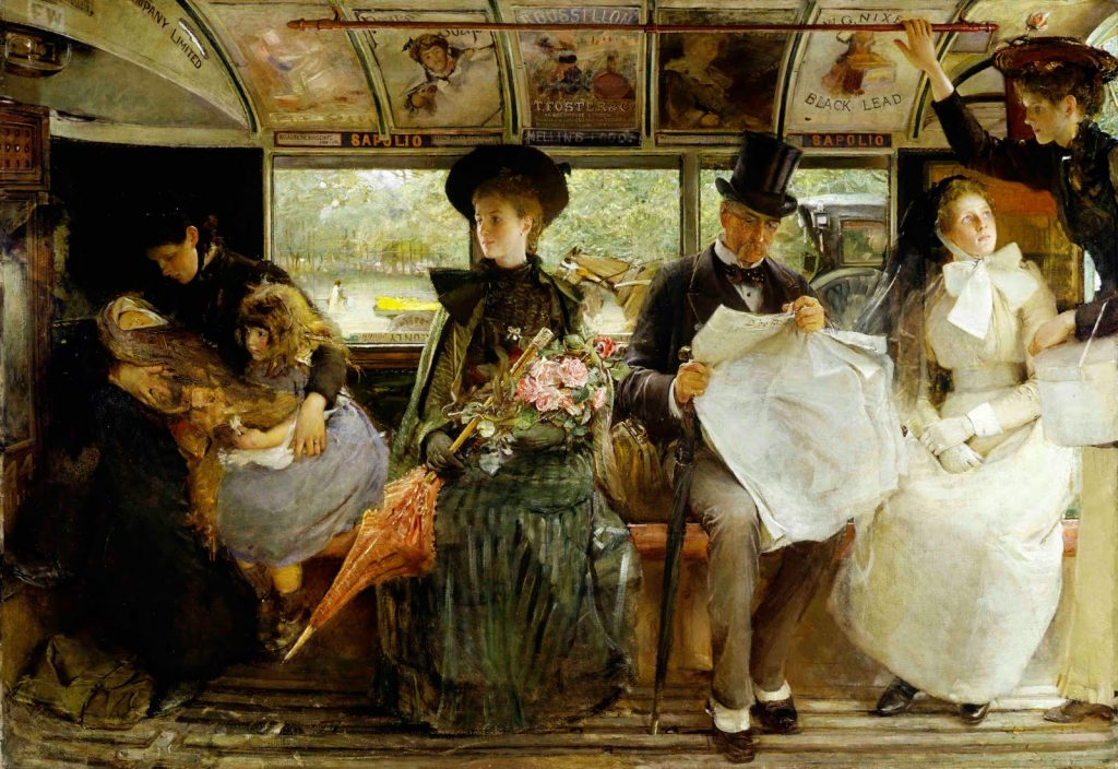 George W. Joy (1844–1925), The Bayswater Omnibus, 1895, huile sur toile, Museum of London.
