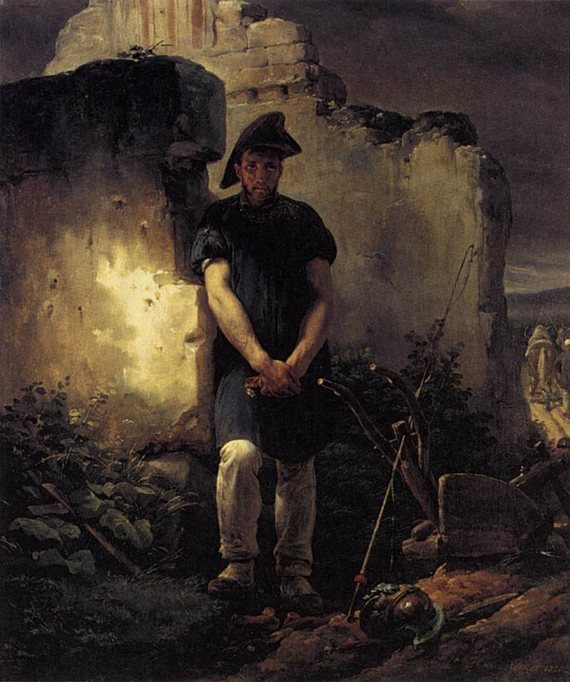Horace Vernet (1789–1863), Le soldat laboureur, 1820, huile sur toile, Wallace collection.