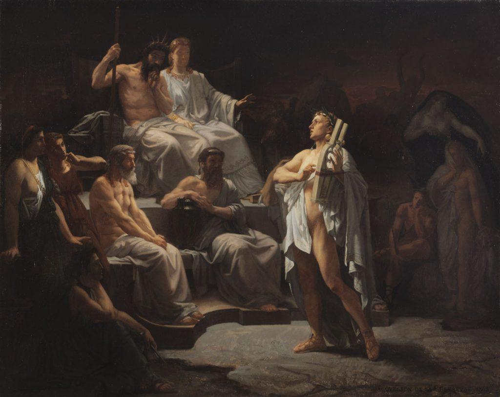 Louis-Marie-François Jacquesson de la Chevreuse (1839-1903), Orphée aux Enfers, 1865, huile sur toile, Musée des Augustins, Toulouse.