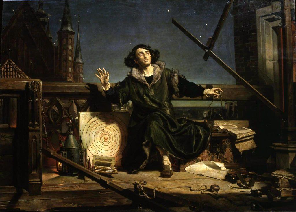 Jan Matejko (1838–1893), L'astronome Copernic en conversation avec Dieu, 1872, huile sur toile, Jagiellonian University Museum.